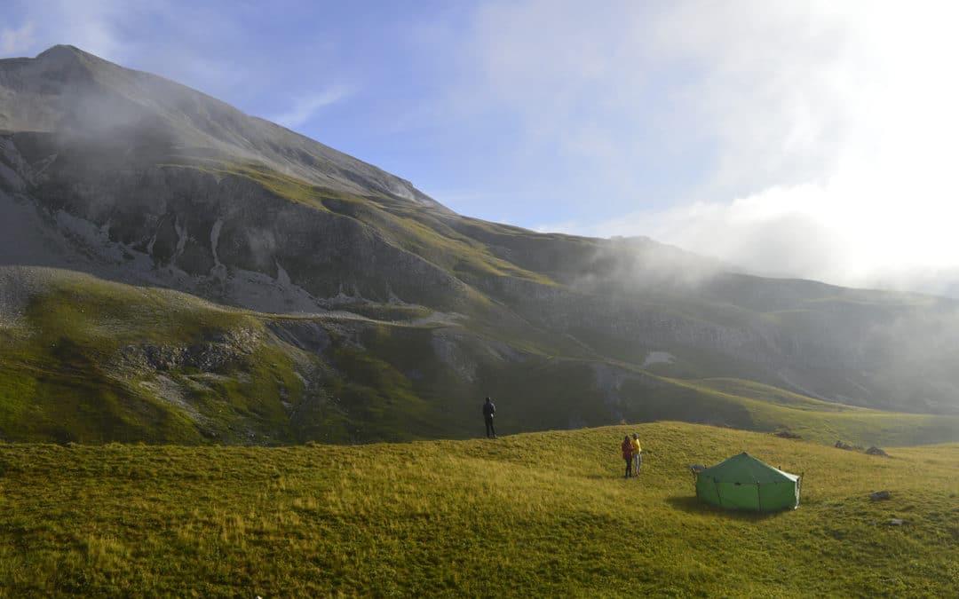 Le bivouac en montagne.