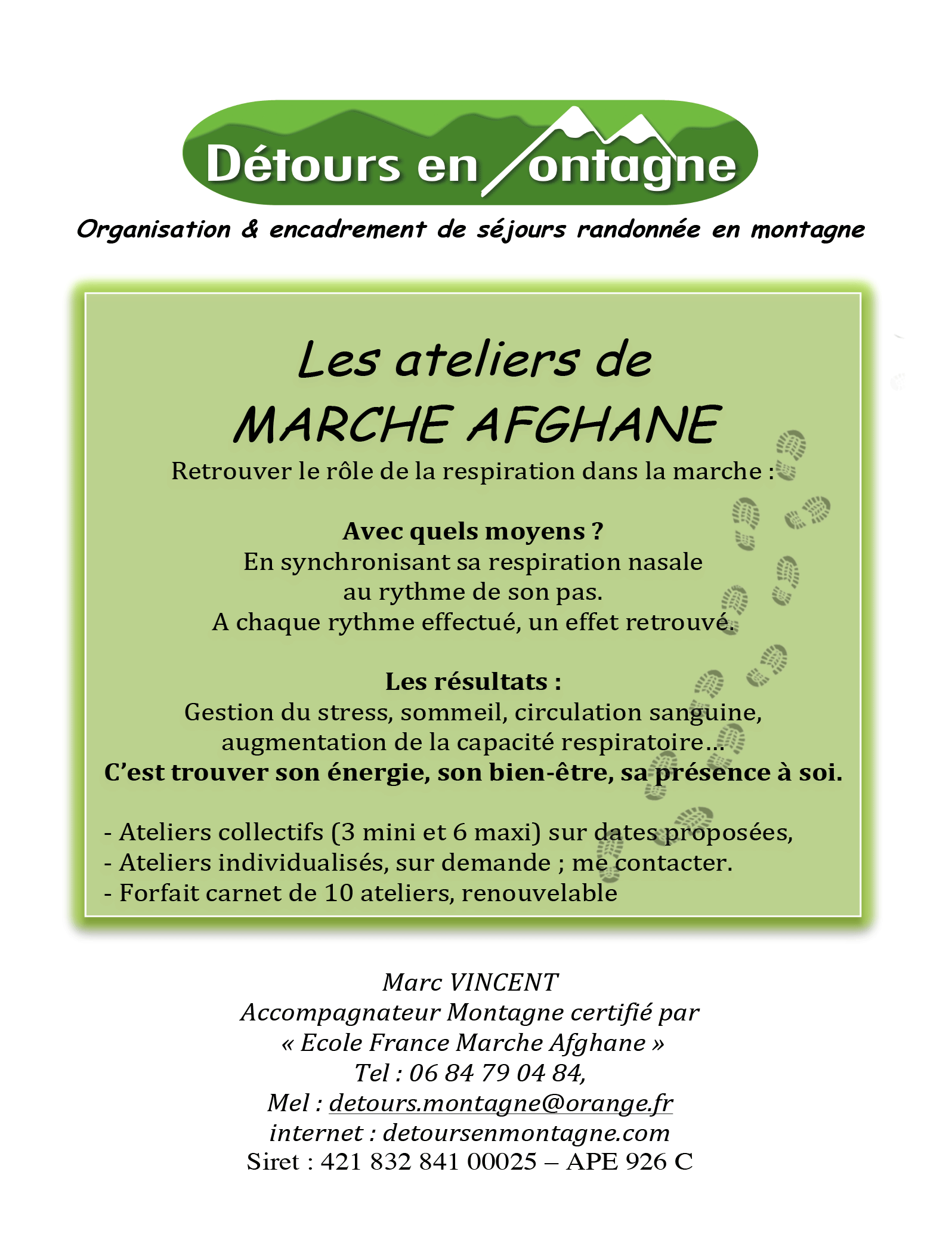 ateliers marche Afghane