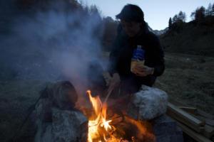 repas feu de bois
