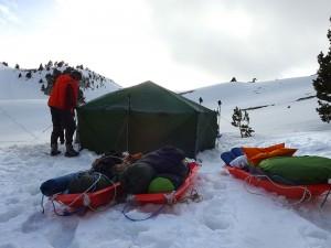 Montage de tente