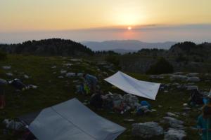 Coucher de soleil sur le plateau de Céüse