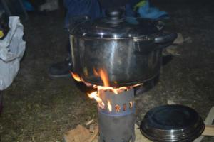 Cuisson de la soupe d'épeautre